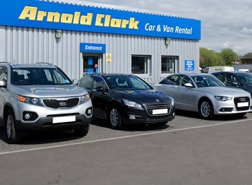 Arnold and Clark Car Rentals in Dundee